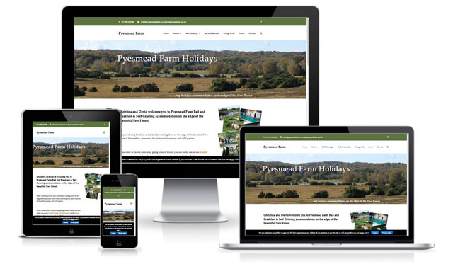 New Website For Pyesmead Farm Holidays